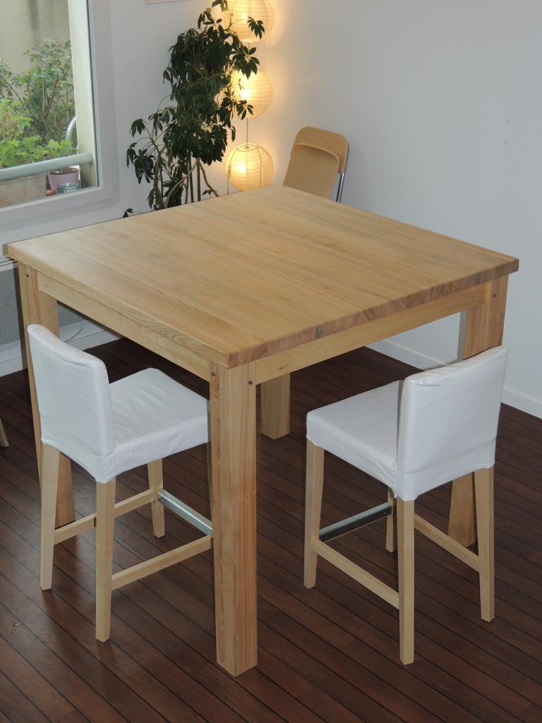 Table tr s haute en fr ne 96cm - Fabriquer une table haute de cuisine ...