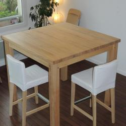 Table très haute en frêne 96cm