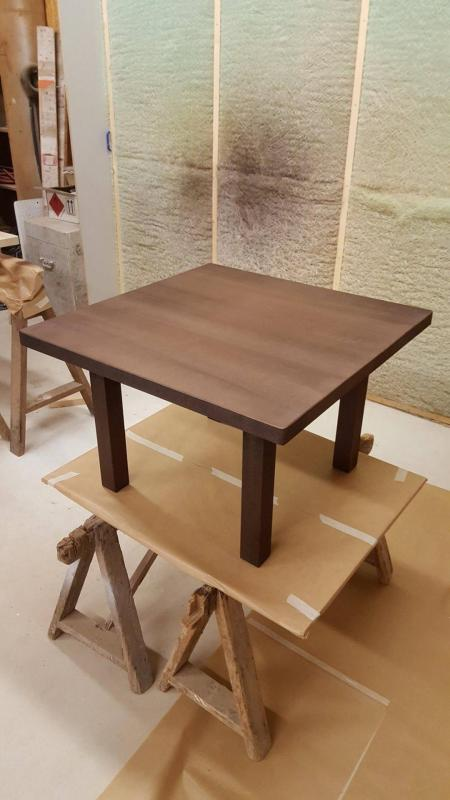 coffee table design - poplar teinted-  www.ateliercannelle.com
