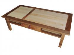 table frêne et noyer massif