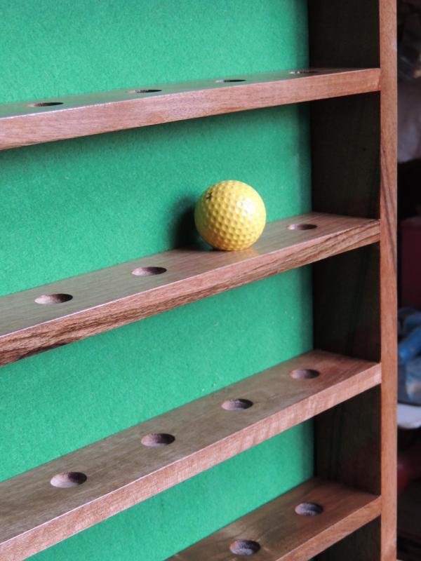 www.ateliercannelle.com - detail présentoir balle de golf